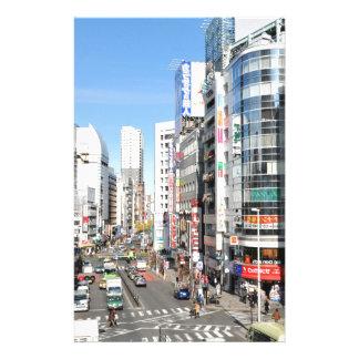 東京、日本のShinjuku地区 便箋