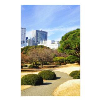 東京、日本のShinjuku Gyoenの国民の庭 便箋