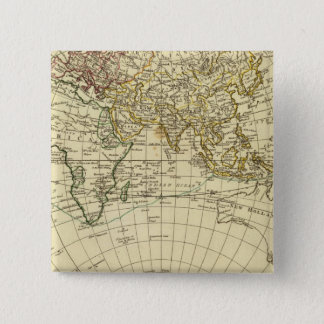 東半球8 5.1CM 正方形バッジ