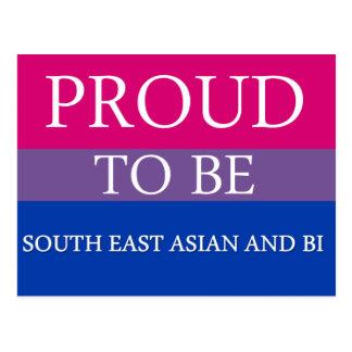 東南アジアおよびBiがあること誇りを持った ポストカード