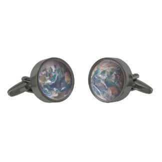 東地球の西半球(残っている) - (右) ガンメタル カフスボタン
