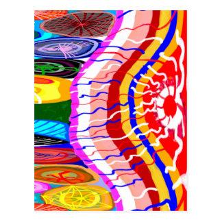 東洋のお祝いの装飾 ポストカード