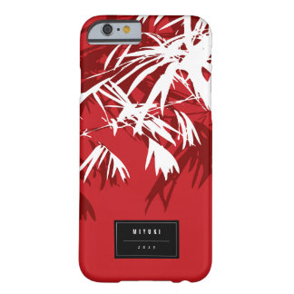 東洋のアジア中国ので赤いタケは禅の場合を去ります BARELY THERE iPhone 6 ケース