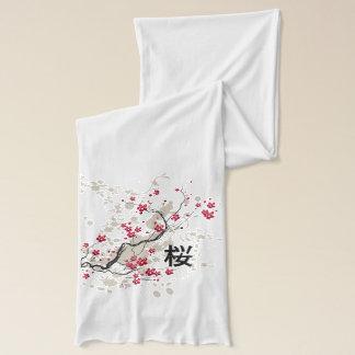 東洋のスタイルの桜の桜の芸術 スカーフ