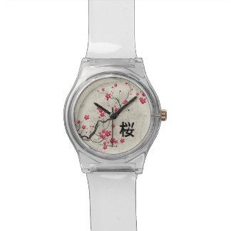 東洋のスタイルの桜の桜の芸術 腕時計