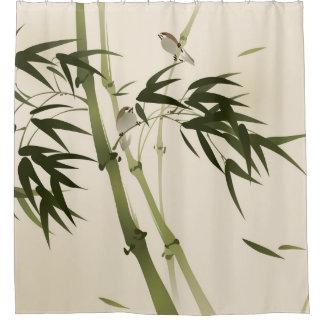 東洋のスタイルの絵画、タケ枝 シャワーカーテン