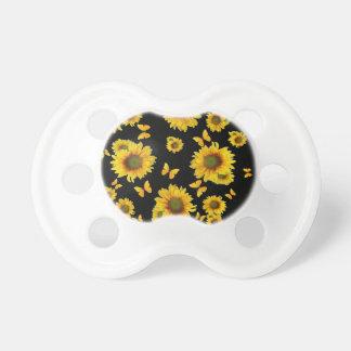 東洋のスタイルの黄色の蝶ヒマワリ おしゃぶり