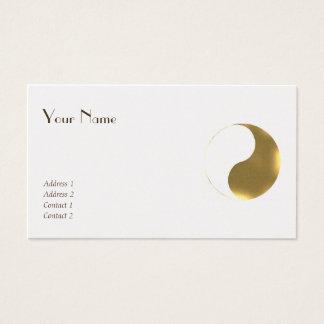 東洋のバランス-グランジなgolden&white 名刺