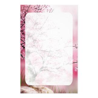 東洋のファンタジーの桜の文房具 便箋