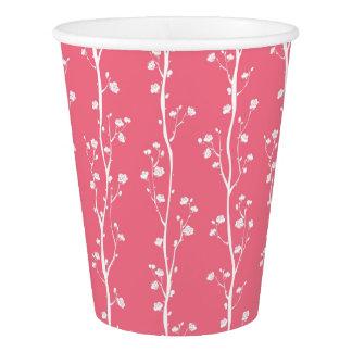 東洋のプラム花パターン 紙コップ