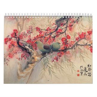 東洋のマスターの芸術はカレンダーを植えます カレンダー