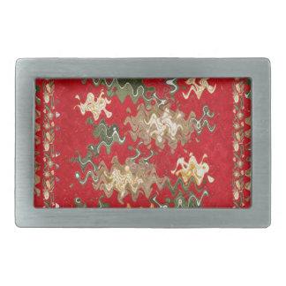 東洋の中国のな赤は絹の生地の質感を振ります 長方形ベルトバックル
