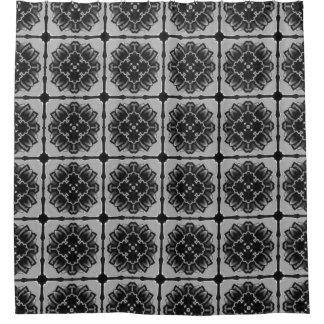 東洋の幾何学的な装飾用の花パターン シャワーカーテン