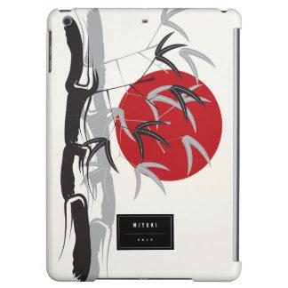 東洋の日没のタケ庭の芸術的なiPadの場合