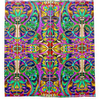 東洋の水彩画パターンIII + あなたのアイディア シャワーカーテン