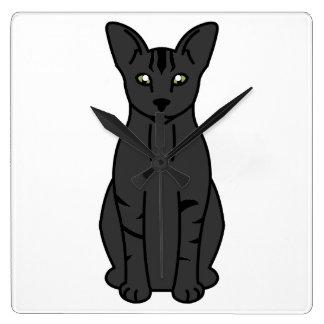 東洋の煙猫の漫画 スクエア壁時計