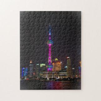 東洋の真珠タワー-上海の中国 ジグソーパズル