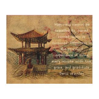 東洋の禅 ウッドウォールアート