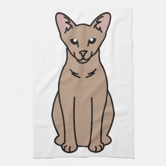 東洋の自己猫の漫画 キッチンタオル