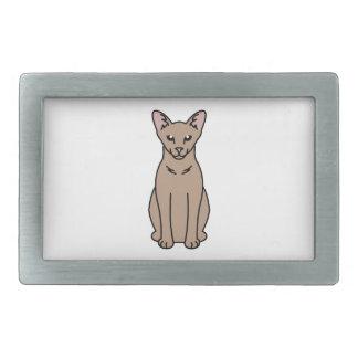 東洋の自己猫の漫画 長方形ベルトバックル