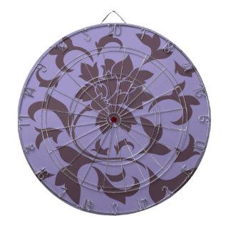 東洋の花-さくらんぼチョコレート及びすみれ色のチューリップ ダーツボード
