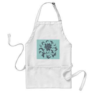 東洋の花-カサガイの貝-灰色の青 スタンダードエプロン