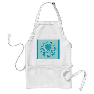東洋の花-カサガイの貝-青 スタンダードエプロン