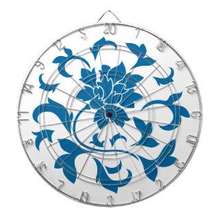 東洋の花-スノーケルの青い円パターン ダーツボード