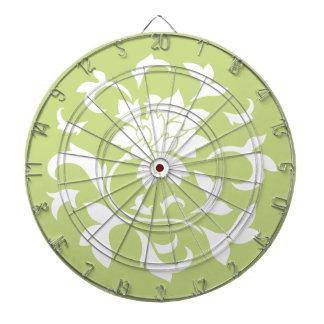 東洋の花-ダイキリの緑の円パターン ダーツボード