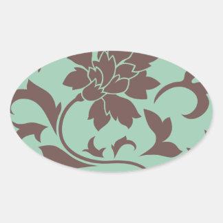 東洋の花-チョコレートアメリカツガ 楕円形シール