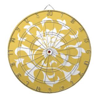 東洋の花-マスタードの黄色い円パターン ダーツボード