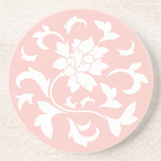 東洋の花-ローズクォーツの回状パターン コースター