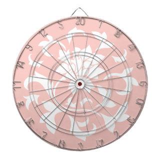東洋の花-ローズクォーツの回状パターン ダーツボード