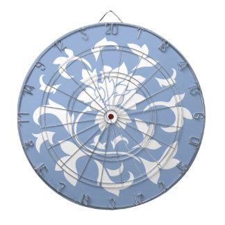 東洋の花-平静の青い円パターン ダーツボード
