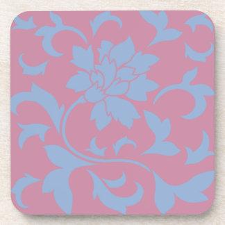 東洋の花-平静の青及びいちご コースター