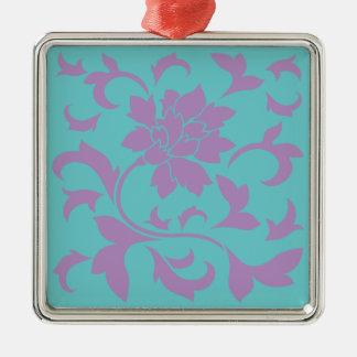 東洋の花-薄紫のミント メタルオーナメント