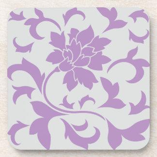東洋の花-薄紫の銀 コースター