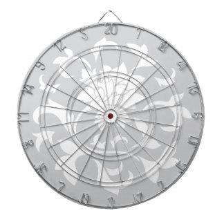 東洋の花-銀製の円パターン ダーツボード