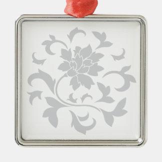 東洋の花-銀製の円パターン メタルオーナメント