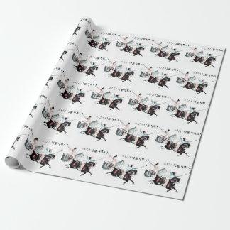 東洋の芸術のリネン包装紙ロール ラッピングペーパー