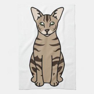 東洋の虎猫猫の漫画 キッチンタオル