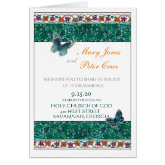東洋の蝶植物の招待 カード