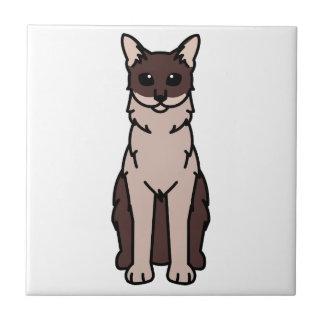 東洋の長髪の猫の漫画 正方形タイル小