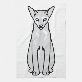 東洋のTortie猫の漫画 キッチンタオル