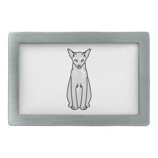 東洋のTortie猫の漫画 長方形ベルトバックル
