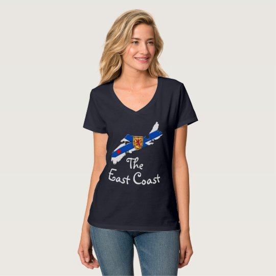 東海岸のハートのノバスコシアのワイシャツを愛して下さい Tシャツ