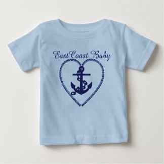 東海岸のベビーのいかりの灯台ルート ベビーTシャツ