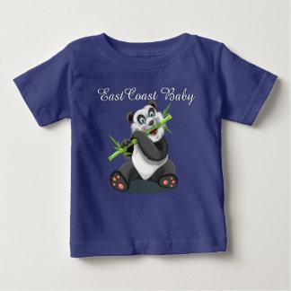 東海岸のベビーのかわいいパンダくまのワイシャツ ベビーTシャツ
