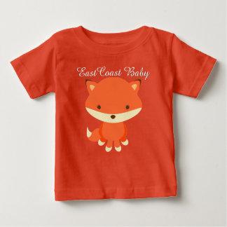 東海岸のベビーのかわいい孤 ベビーTシャツ