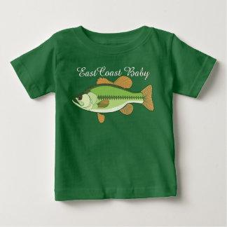 東海岸のベビーのすずきの魚 ベビーTシャツ